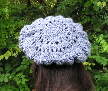 Eleanor beret style crochet hat