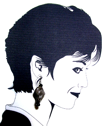hypoallergenic Pottery bead earrings