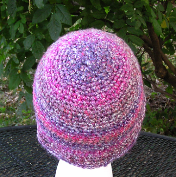 Flapper style hand made crocheted hat