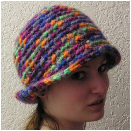 bulky yarn flapper style crocheted hat