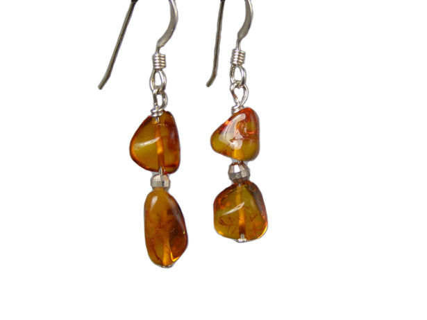 handcrafted hypoallergenic amber earrings
