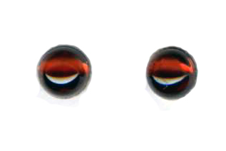 6mm garnet  titanium post earrings