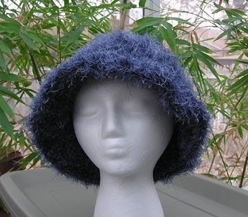 Wild Blue Faux Fur Crochet Hat