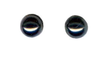 6mm hematite cab titanium post earrings