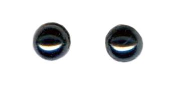 6mm hematite cab titanium post earrings