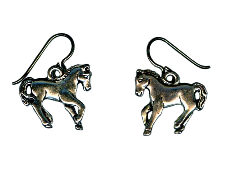 hypoallergenic horse  earrings