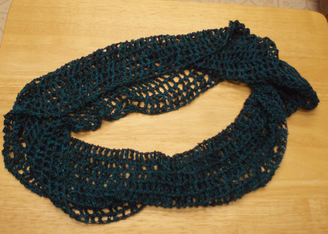 beaded silk lace infinity scarf