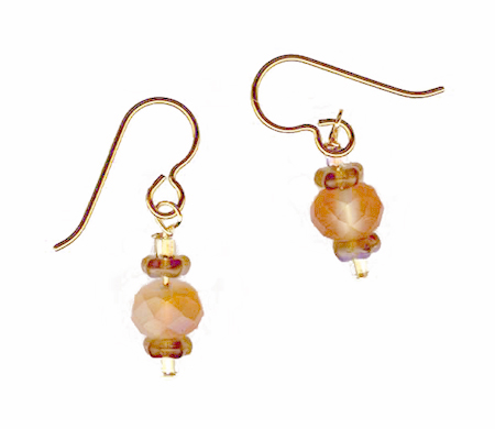 hypoallergenic faceted czech bead earrings
