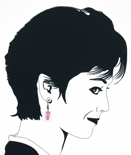 hypoallergenic pink cubic earrings