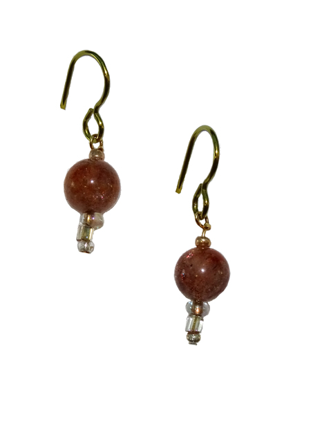 hypoallergenic sunstone earrings