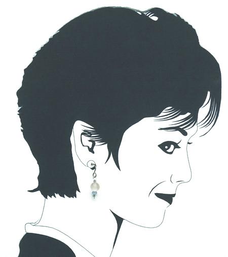 hypoallergenic quartz & vintage mardi grass glass bead earrings