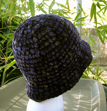 Chenille Flapper Crochet Hat