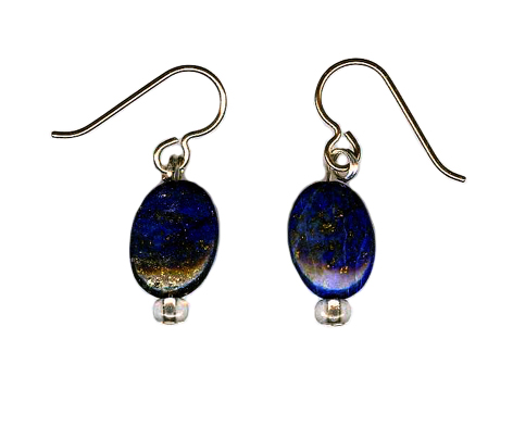 hypoallergenic lapis lazuli earrings