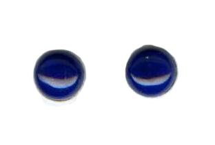 6mm lapis lazuli titanium post earrings