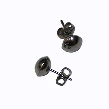 8mm titanium dome post earrings