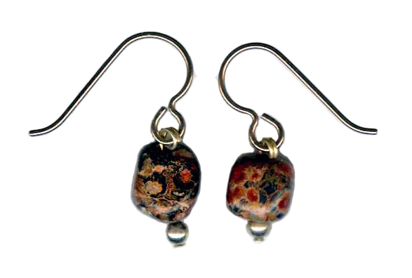 Leopardskin Jasper Hypoallergenic Earrings