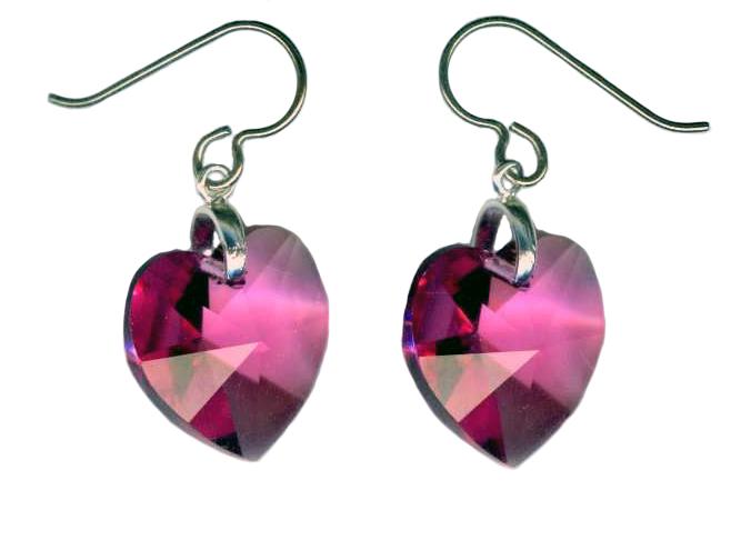 hypoallergenic Swarovski crystal earrings