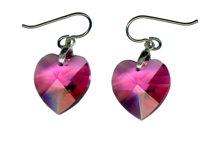 hypoallergenic Swarovski crystal earrings