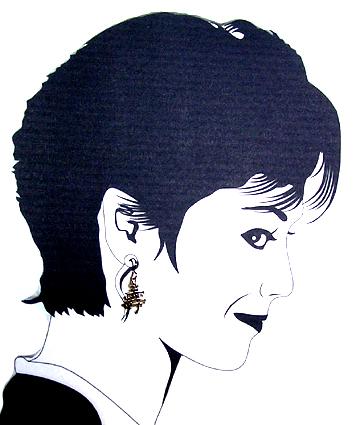 hypoallergenic longevity chinese symbol earrings