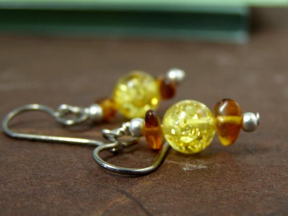 handcrafted hypoallergenic amber earrings