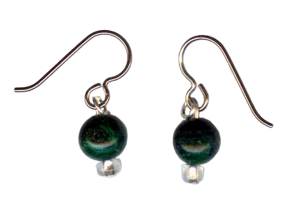 malachite Hypoallergenic Earrings
