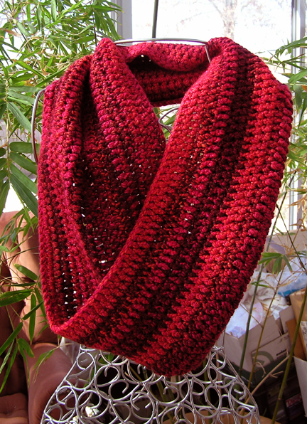 Crocheted Mobius Scarf