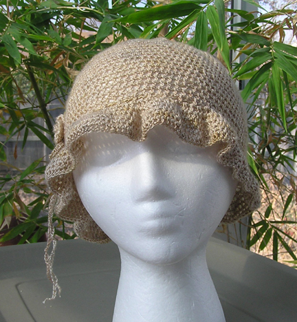 custom crochet wedding hat