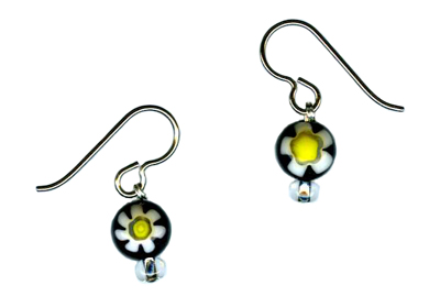 millefiori bead earrings