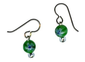 millefiori bead hypoallergenic earrings
