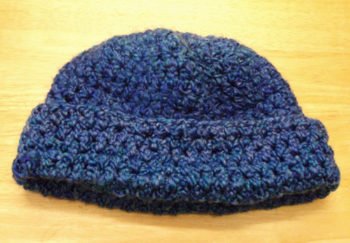 basic brim crochet hat
