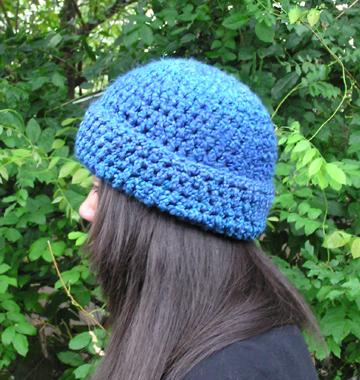 basic brim crochet hat