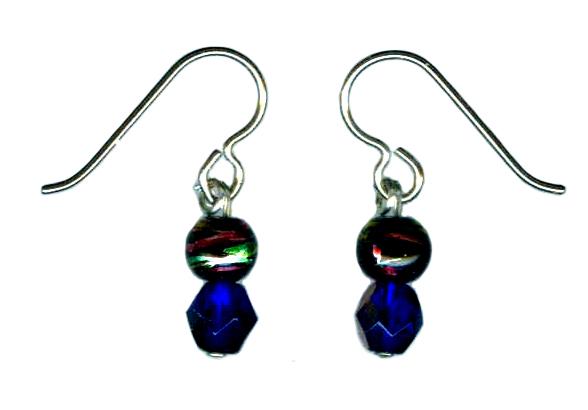 handcrafted iridescent bead hypoallergenic earrings