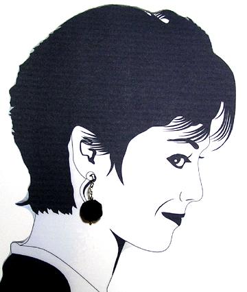 handcrafted black obsidian hypoallergenic earrings