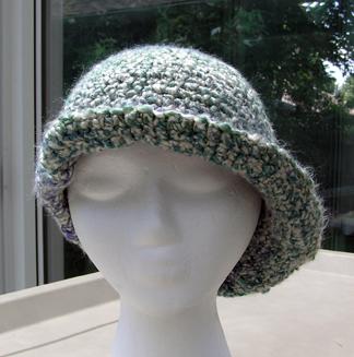 custom boucle yarn crocheted hat