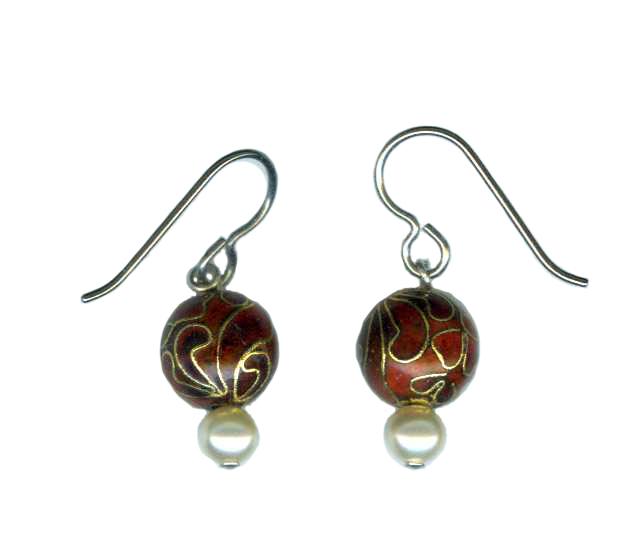 hypoallergenic cloisonnel earrings