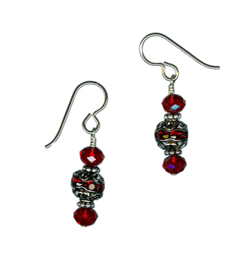 holiday ornament dangle earrings