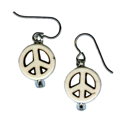 peace sign Hypoallergenic earrings
