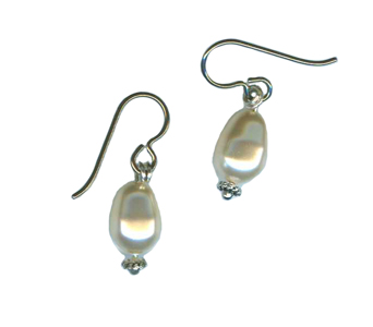 hypoallergenic swarovski pearl drop earrings