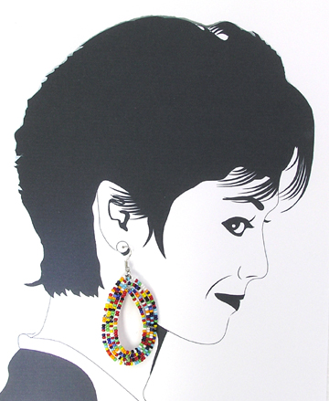 Maasai dangle earrings