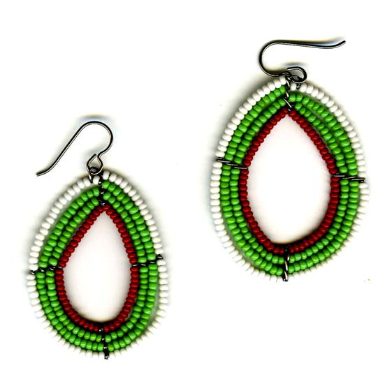Maasai dangle earrings