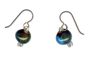 Hypoallergenic pottery bead  earrings