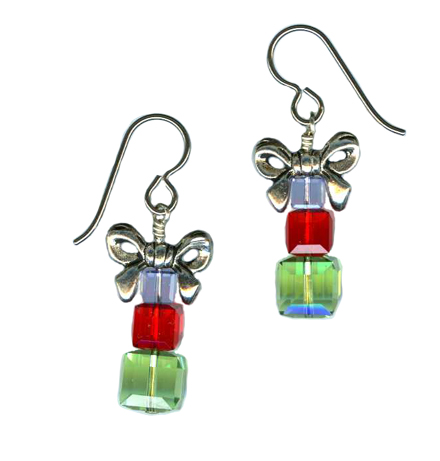 holiday boxes dangle earrings