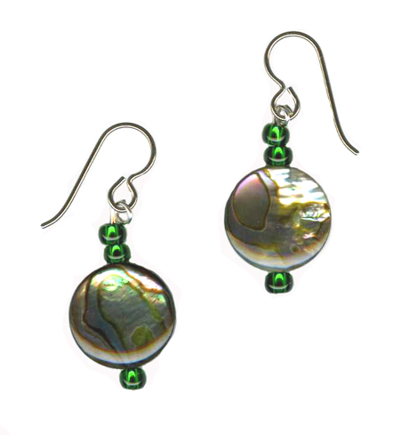 hypoallergenic paua shell earrings