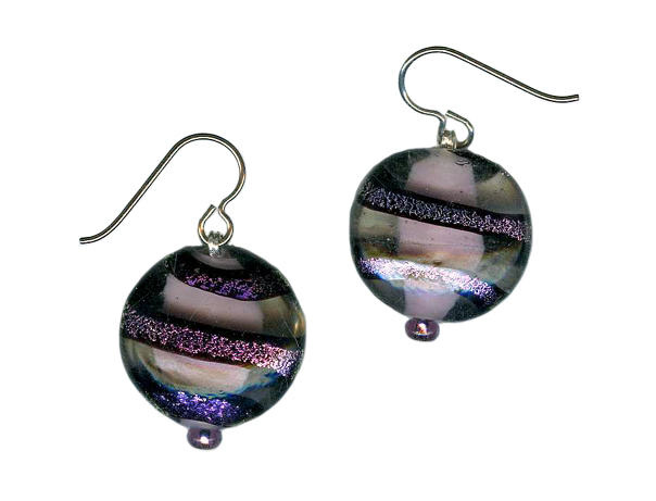 hypoallergenic dichroic earrings