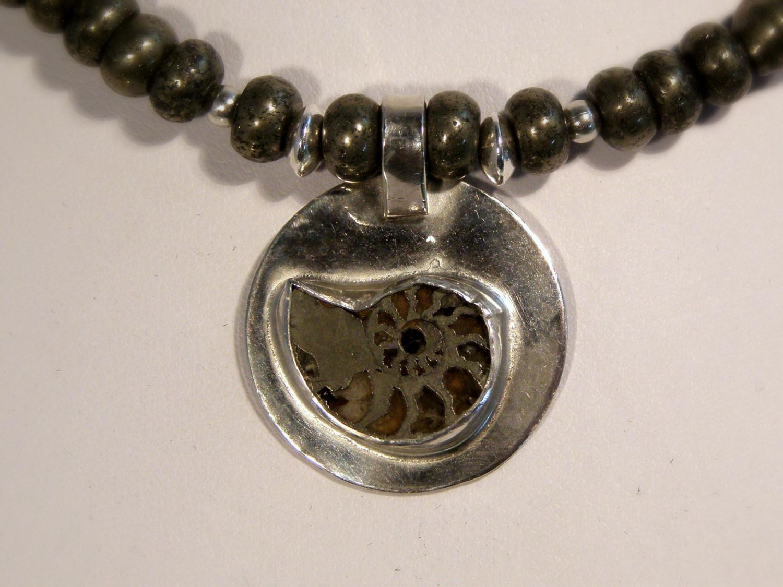 designer ammonite necklace