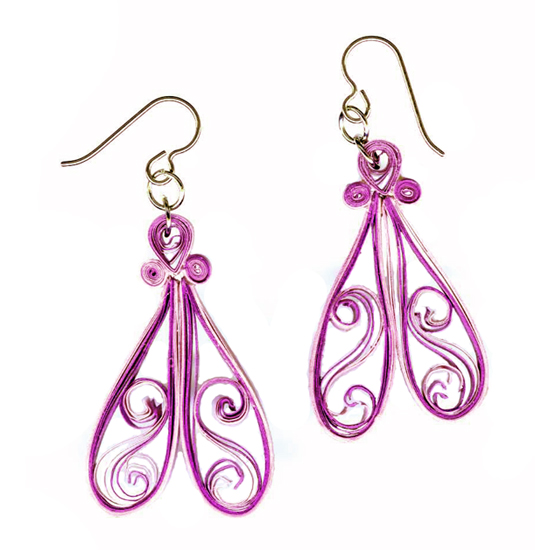hypoallergenic handcrafted quilled earrings