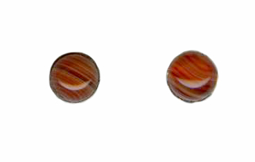 6mm red lace agate cab titanium post earrings
