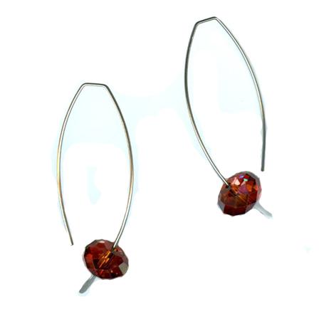 hypoallergenic long earwire earrings