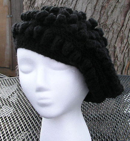 Reggae Beret Crocheted Hat