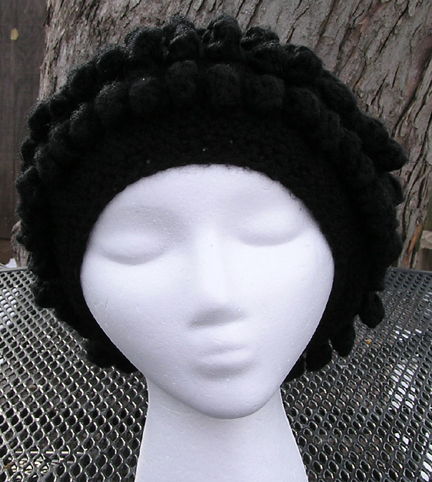 Reggae Beret Crocheted Hat worn snood style